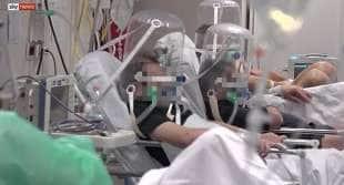il servizio di sky news dall'ospedale di bergamo