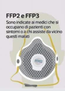MASCHERINA FFP2 E FFP3