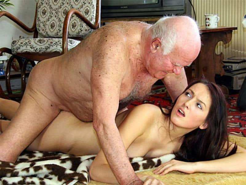 Teen ebony girl with big tits fucked by old man in this reverse interacial porn vids