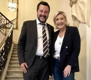 MATTEO SALVINI CON MARINE LE PEN A PARIGI