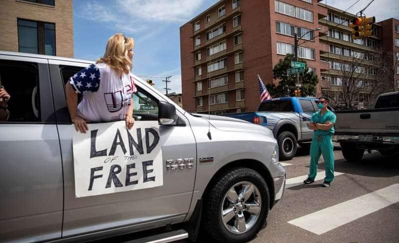 proteste contro il lockdown in colorado 15