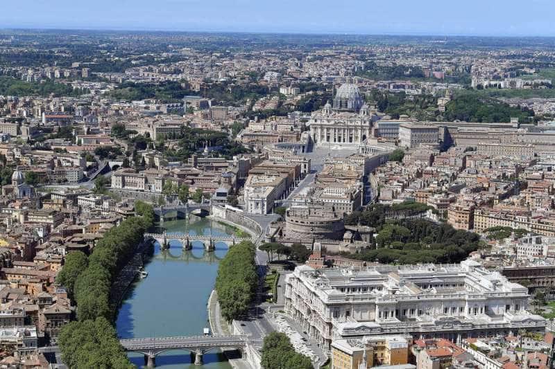 roma dall'alto durante il lockdown foto mezzelani gmt 13