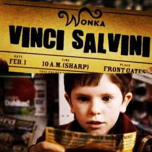 MEME SU VINCI SALVINI E WILLY WONKA