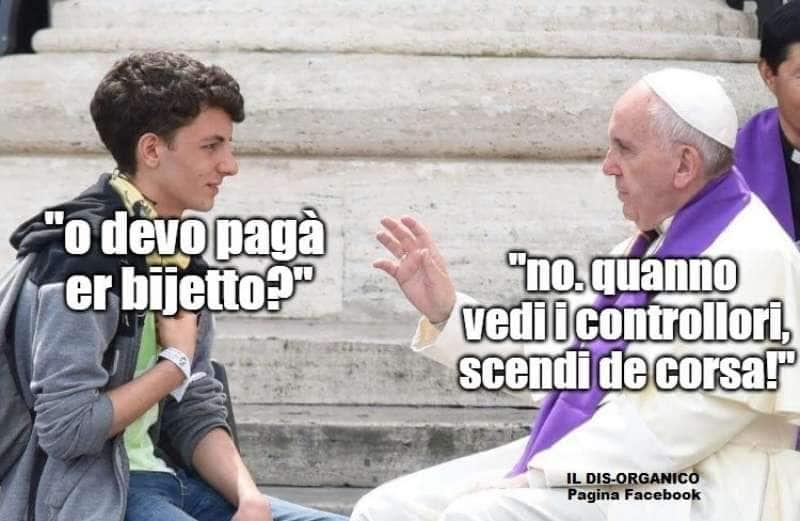 PAPA BERGOGLIO DA CONSIGLI