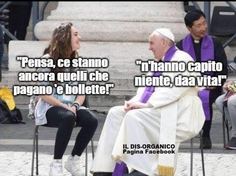 PAPA BERGOGLIO ELETTRICITA BOLLETTE VATICANO