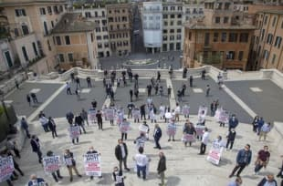 flash mob dei commercianti di roma 4
