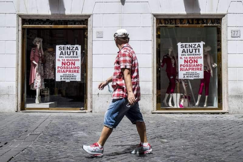 protesta dei commercianti del centro di roma 14