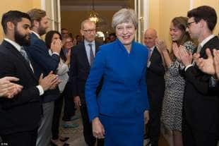 May torna a Downing street