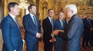 CONTE SALVINI DI MAIO MOAVERO MATTARELLA