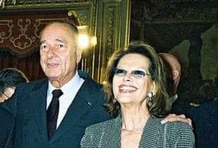 Chirac in compagnia di Claudia Cardinale
