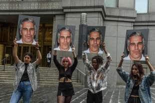 proteste contro jeffrey epstein