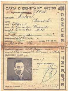 carta di identita' di daniele israel
