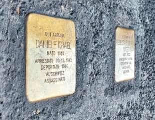 pietra di inciampo daniele israel