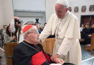 achille silvestrini con papa francesco 1