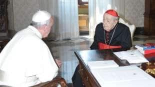achille silvestrini con papa francesco
