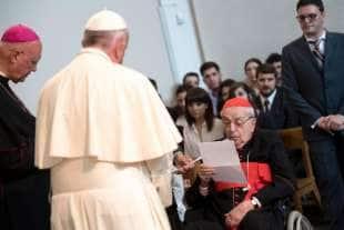 achille silvestrini con papa francesco 2