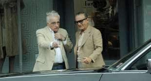 martin scorsese e joe pesci sul set di the irishman