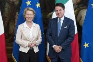 ursula von der leyen incontra giuseppe conte a palazzo chigi 1