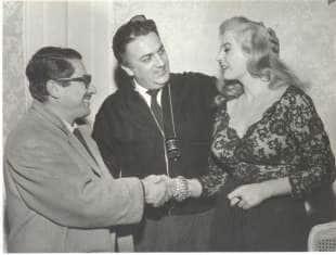 Flaiano Fellini Ekberg 1960