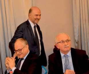 Roberto Gualtieri, Pierre Moscovici, Udo Bullmann
