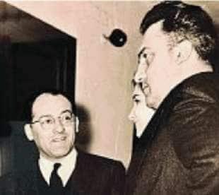 Mario Verdone con Federico Fellini