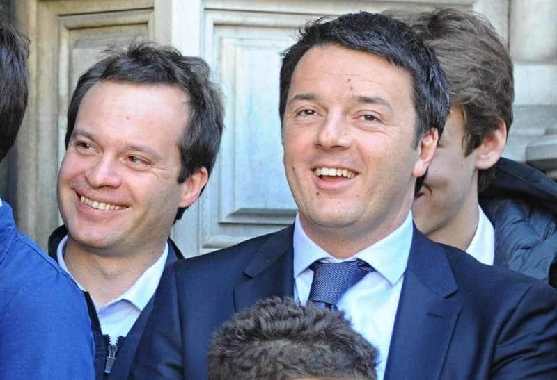 Marco Carrai con Matteo Renzi