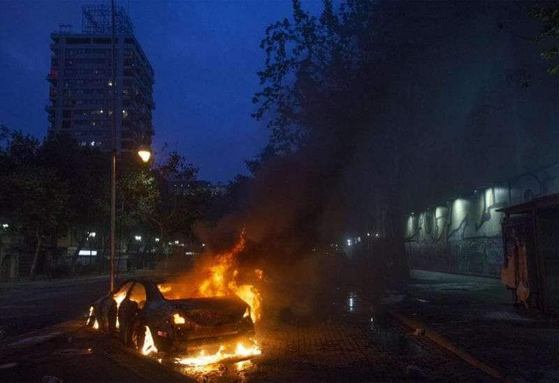 scontri e proteste in cile 5