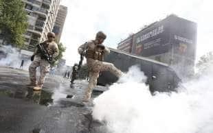 scontri e proteste in cile 8