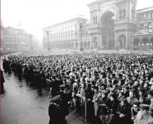 funerali delle vittime di piazza fontana - 15 dicembre 1969 - milano