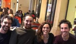 Andrea Garreffa, Roberto Morotti, Giulia Trappoloni e Mattia Santori SARDINE