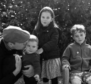 il principe william con i figli