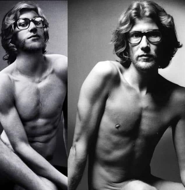 nudo maschile in erezione