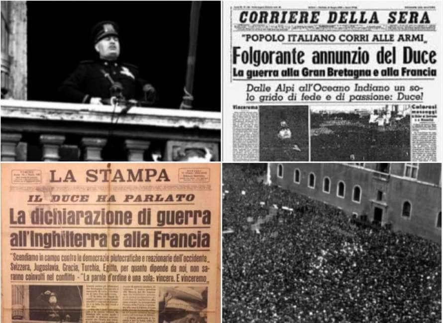 80 Anni Fa Il 10 Giugno 1940 Mussolini Annunciò L Entrata In Guerra Dell Italia Cronache