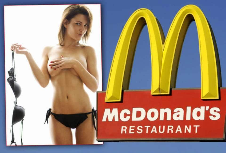Mcdonald's worker sparks outrage showering half