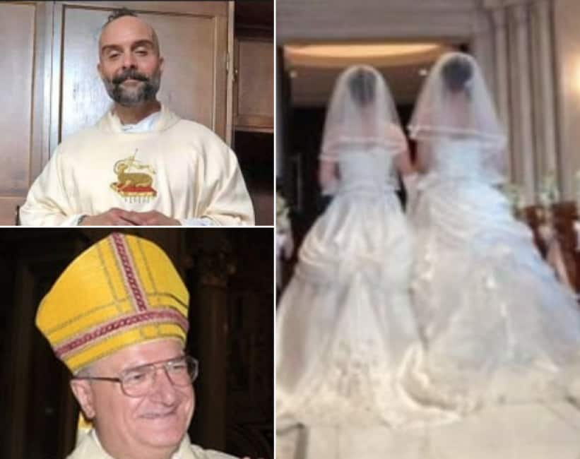CHIAMATELO DON SAFFO! A SANT'ORESTE, IN PROVINCIA DI ROMA, IL PARROCO UNISCE DUE LESBICHE IN MATRIMONIO E SI DIMETTE...