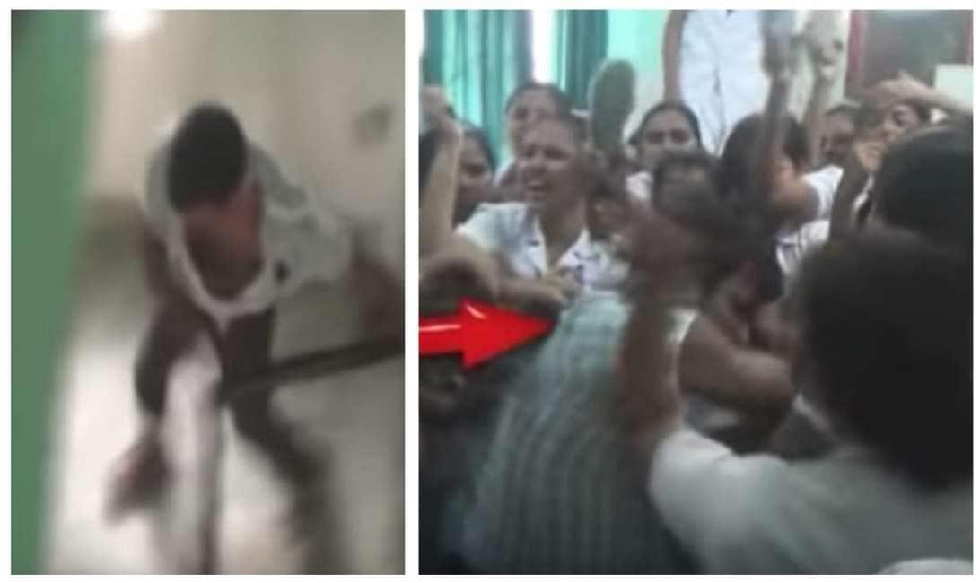 infermiera guarda erezione durante visita video en