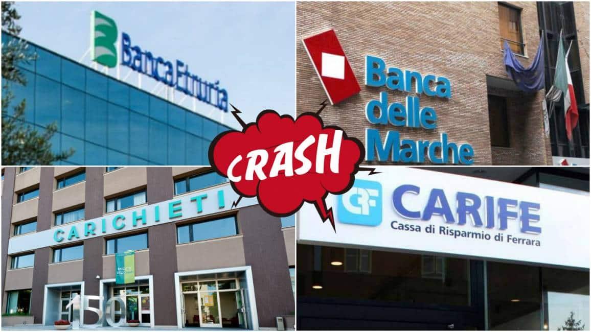 Risultati immagini per italia delle banche fallite