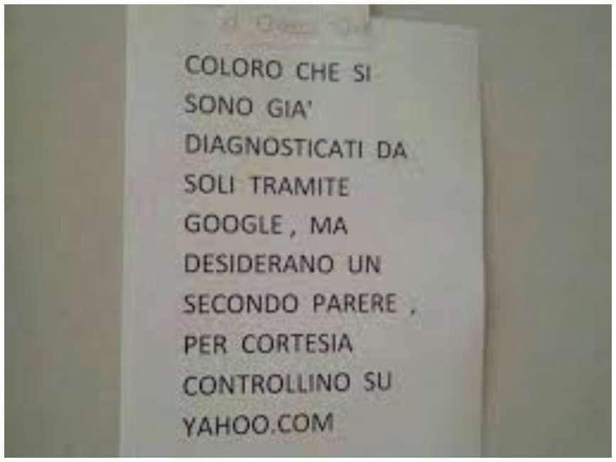 Frasi Per Matrimonio Yahoo.Diagnosi Cliccate Su Google E Yahoo All Istituto Dei Tumori Di