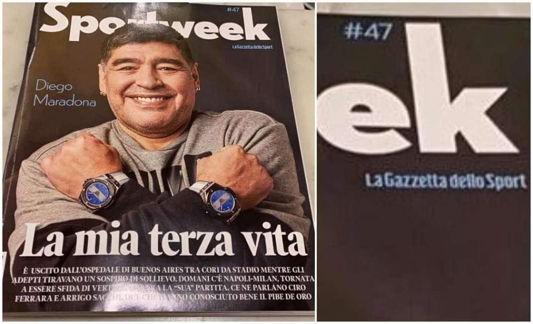CHE SFIGA! LA ''GAZZETTA DELLO SPORT'' AVEVA DEDICATO LO ''SPORTWEEK'' APPENA USCITO ALLA ''TERZA VITA DI MARADONA'' (QUALE, QUELLA ETERNA?)....