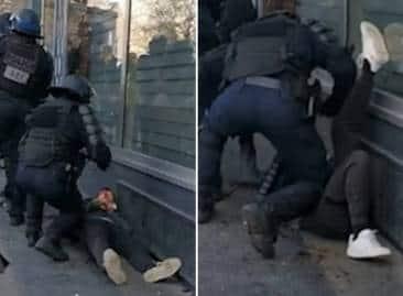 francia, fanno il giro del web i video delle violenze della polizia durante  le manifestazioni - Cronache